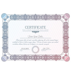 Certificate diploma vector