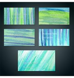 Green cards vector