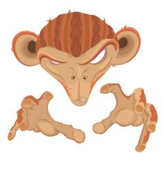 Evil monkey vector