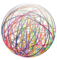 Colorful strings ball vector