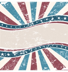 Old american wave background grunge vector