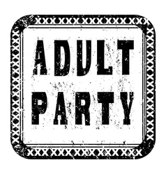 Adult party vector