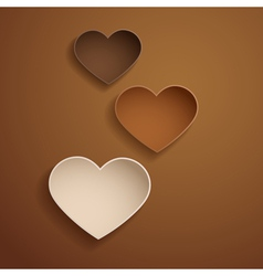 Chocolate hearts vector