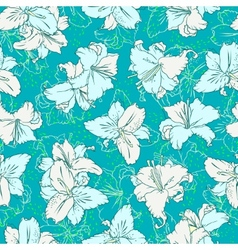 Seamless pattern with lilies vector