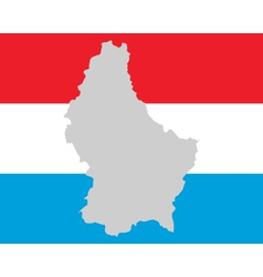Map and flag of luxembourg vector