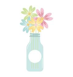 Bottle and flower vector