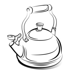 Teapot kettle vector