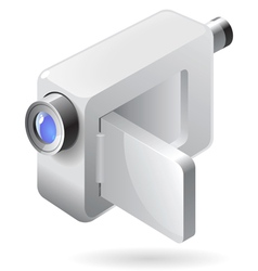 Isometric icon of video camera vector