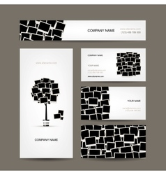 Business cards design photo frames vector