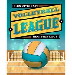 Volleyball league flyer vector