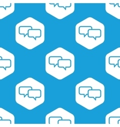 Chat hexagon pattern vector