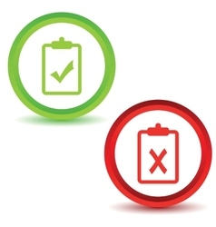 Two result icons 2 vector