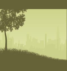 City edge vector
