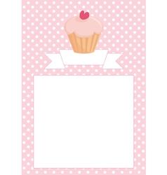 Restaurant menu wedding card list or baby shower vector