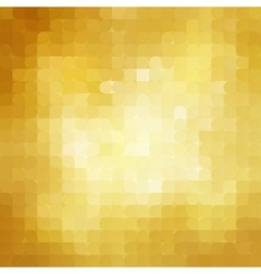 Abstract retro gold mosaic background vector