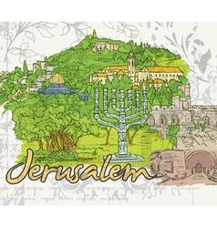 Jerusalem doodles vector