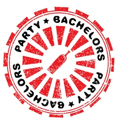 Bachelors party stamp vector