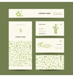 Business cards design massage and spa concept vector