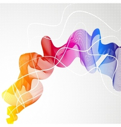 Abstract colorful background with wave of lines vector