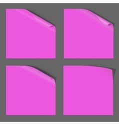 Paper curled corner vector