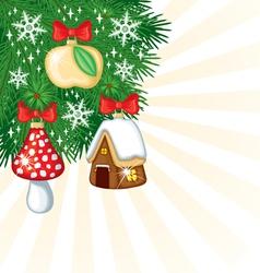 Christmas retro decor vector