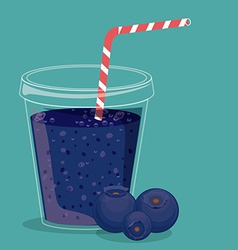 Blueberry juice vector