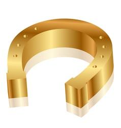 Gold horseshoe vector