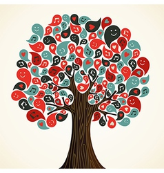 Abstract music tree vector