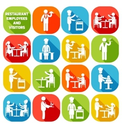 Restaurant employees white vector