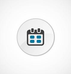 Calendar icon 2 colored vector