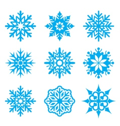 Snowflakes set vector