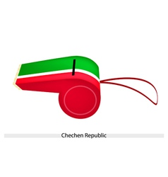 Red and green stripe on chechen republic whistle vector