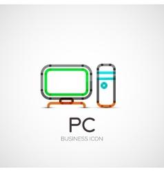 Pc icon company logo business concept vector