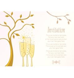 Elegant invitation template vector