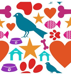 Love for pets icon seamless pattern vector