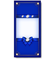 Greeting card blue vector