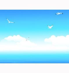 Blue ocean vector