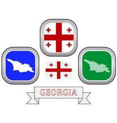 Symbol of georgia vector