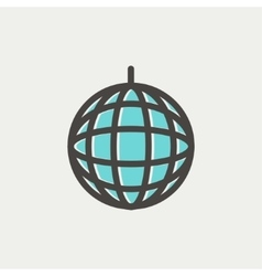 Disco ball thin line icon vector