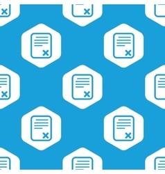 Declined document hexagon pattern vector