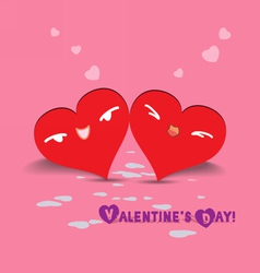 Valentine day couple hearts vector