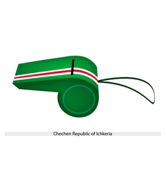 A whistle of chechen republic of lchkeria vector