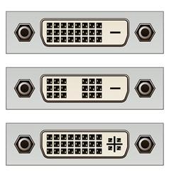 Dvi digital pc video connectors vector