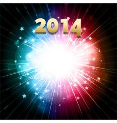 New year firework vector