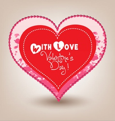 Valentine day heart in hearts vector