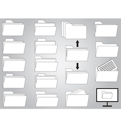 Folders and documents vector