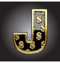 Black letter with dollars vector