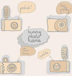 Funny cameras vector