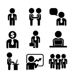 Business and office people icon set vector