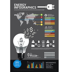 Energy info graphic vector